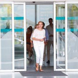La Infanta Cristina tras visitar al Rey Juan Carlos en el hospital