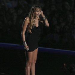 Miley Cyrus tras actuar en la gala de los MTV VMAs 2019