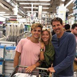 Pablo y Marie Chantal de Grecia con su hijo Achileas de Grecia
