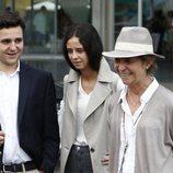La Infanta Elena, Froilán y Victoria Federica tras visitar al Rey Juan Carlos en el hospital
