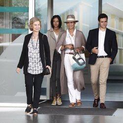 La Reina Sofía, la Infanta Elena, Froilán y Victoria Federica en su visita al Rey Juan Carlos tras su operación de corazón