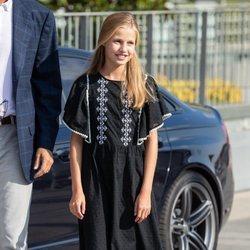 La Princesa Leonor acude a ver al Rey Juan Carlos al hospital