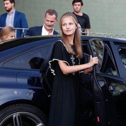 La Princesa Leonor tras visitar al Rey Juan Carlos en el hospital después de su operación de corazón