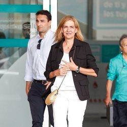 La Infanta Cristina tras su segunda visita al Rey Juan Carlos en el hospital