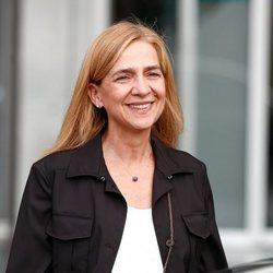 La Infanta Cristina, muy sonriente
