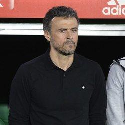 Luis Enrique en un partido entre España e Inglaterra