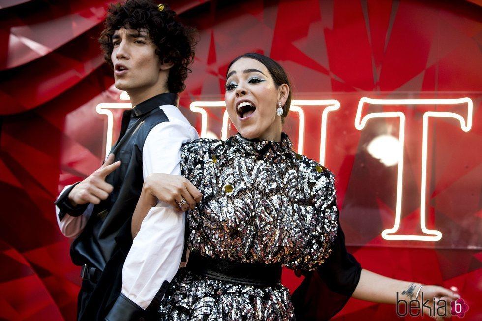Danna Paola y Jorge López en el estreno de la segunda temporada de 'Élite'