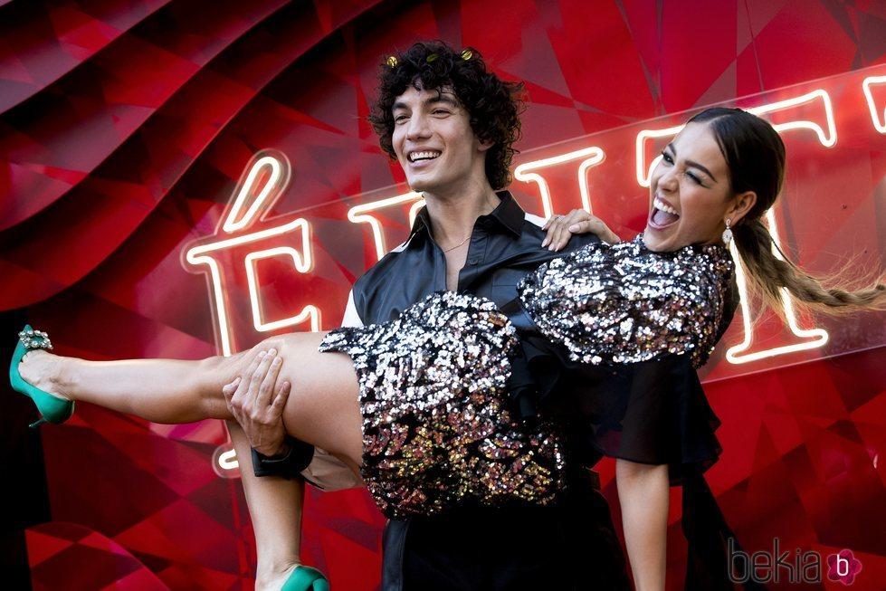Jorge López y Danna Paola en la premiere de la segunda temporada de 'Élite'
