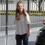 La Princesa Leonor visita al Rey Juan Carlos tras su operación de corazón