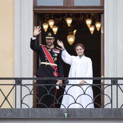 El Príncipe Haakon de Noruega y s hija, la Princesa Ingrid Alexandra de Noruega