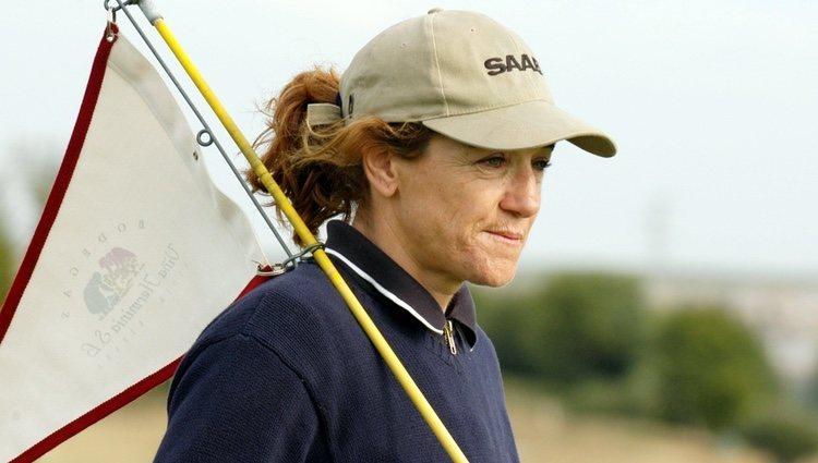 Blanca Fernández Ochoa en un campeonato de golf
