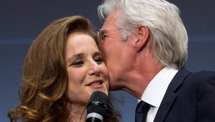 Richard Gere y Debra Winger en el Festival de Cine de Roma en 2011