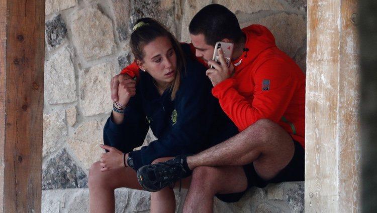 Los hijos de Blanca Fernández Ochoa durante su búsqueda