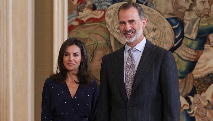 Los Reyes Felipe y Letizia en su primer acto oficial tras las vacaciones de verano 2019