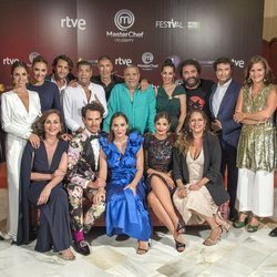 Los concursantes de 'MasterChef Celebrity 4' en el FestVal 2019