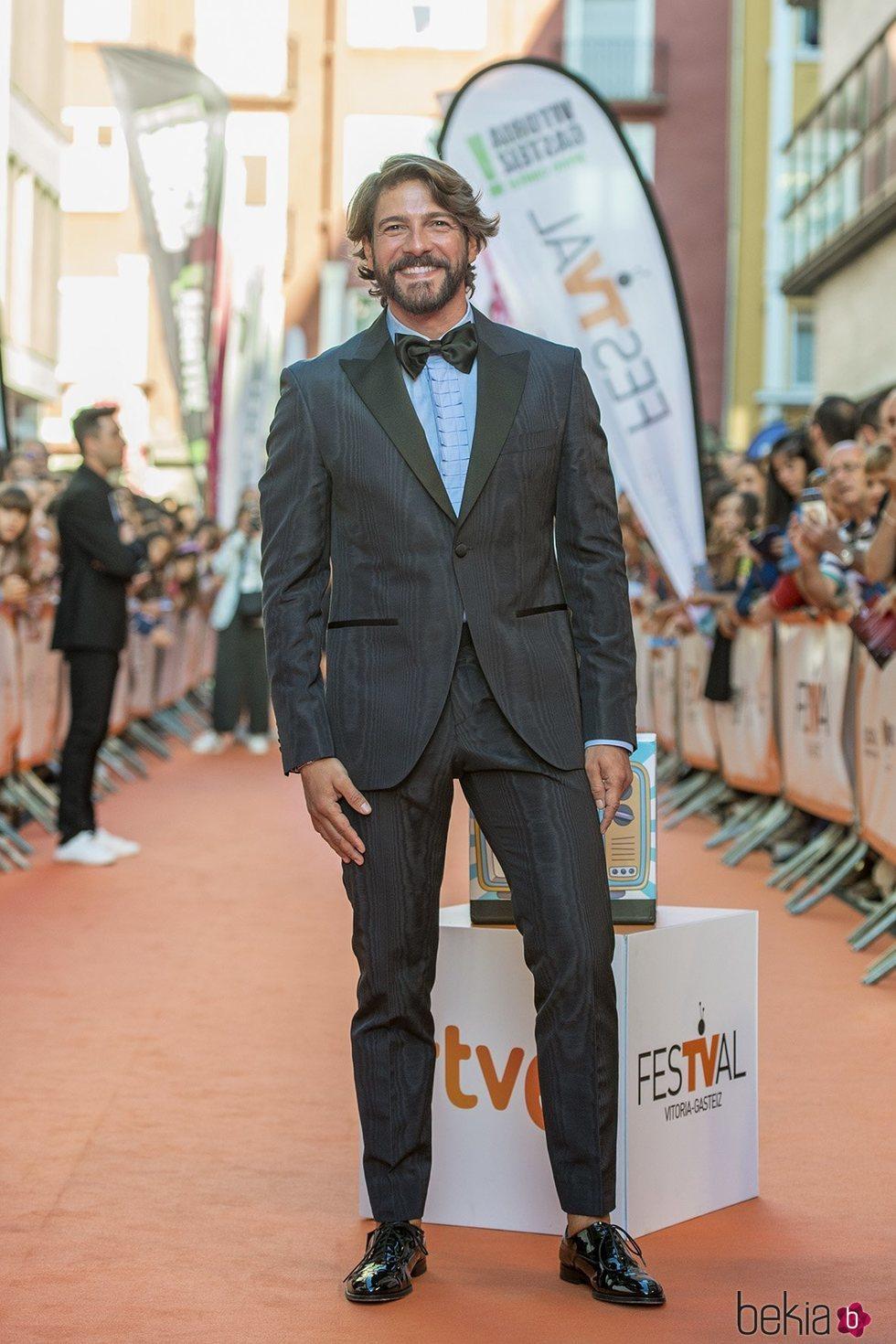 Félix Gómez en la presentación de 'MasterChef Celebrity 4' en el FestVal 2019