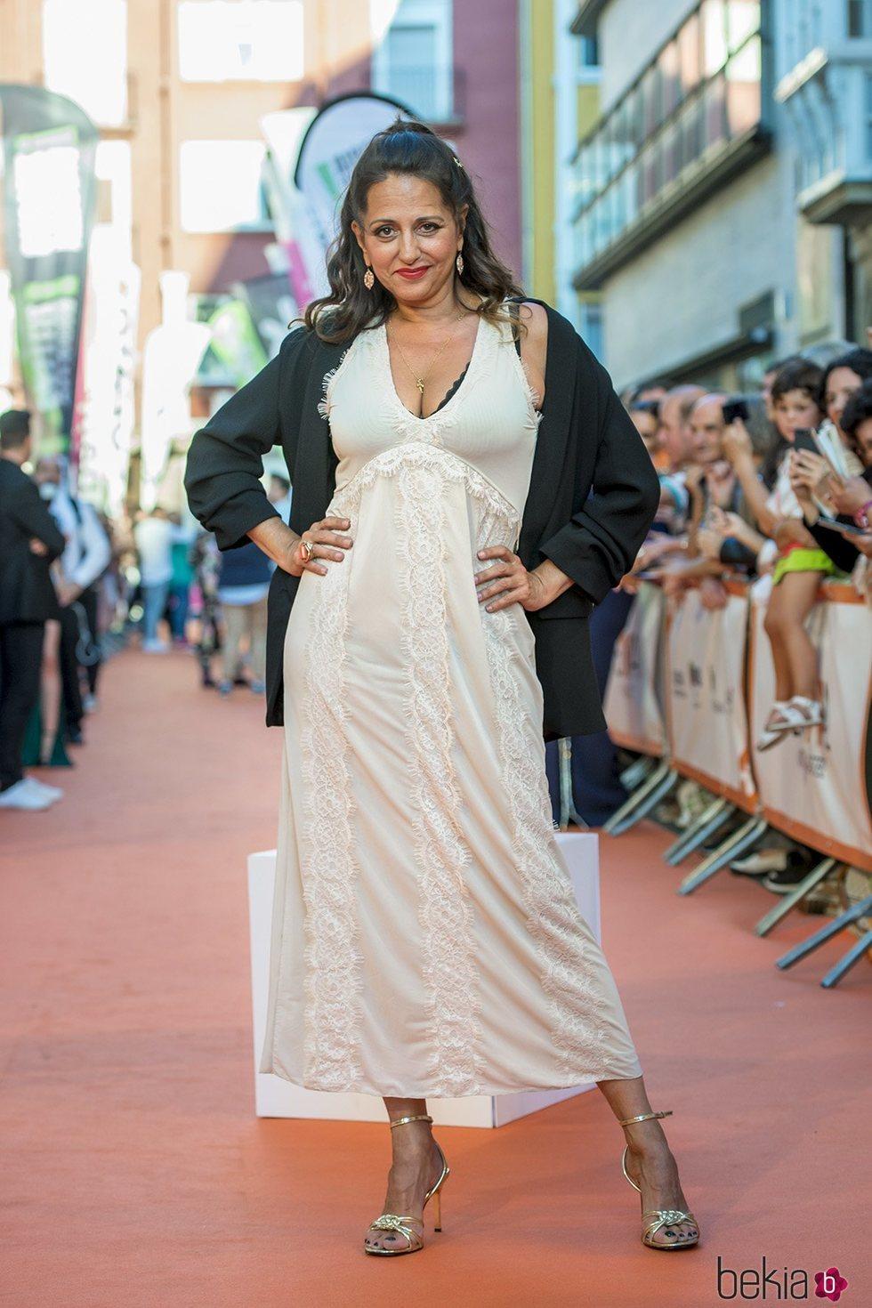 Yolanda Ramos en la presentación de 'MasterChef Celebrity 4' en el FestVal 2019