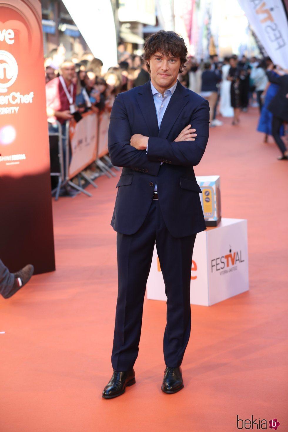 Jordi Cruz en la presentación de 'MasterChef Celebrity 4' en el FestVal 2019