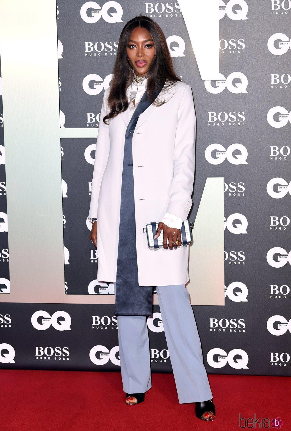 Naomi Campbell en la alfombra roja de los premios GQ 2019