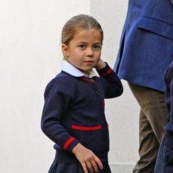 La Princesa Carlota en su primer día de colegio en el Thomas's Battersea