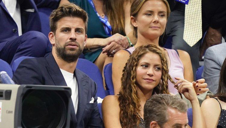 Shakira y Gerard Piqué viendo a Rafa Nadal en el US Open de Nueva York