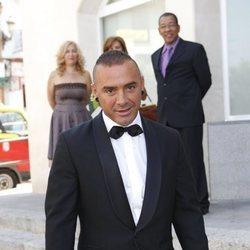 Dinio el día de su boda con Irene López