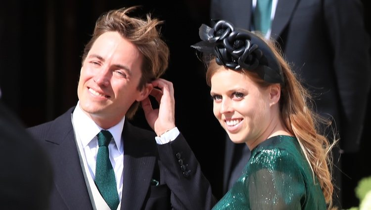 Edoardo Mapelli Mozzi y Beatriz de York en la boda de Ellie Goulding y Caspar Jopling