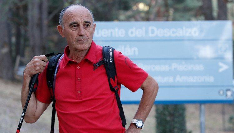 Juan Manuel Fernández Ochoa participando en las labores de búsqueda de su hermana Blanca