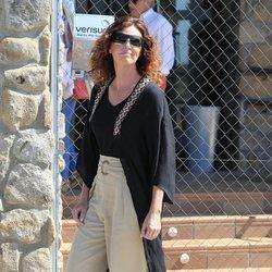 Verónica Mengod en el tanatorio de Blanca Fernández Ochoa