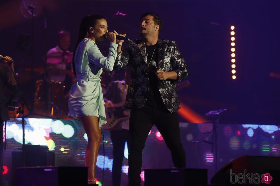 Ana Guerra y David Bustamante en el concierto Vive Dial 2019