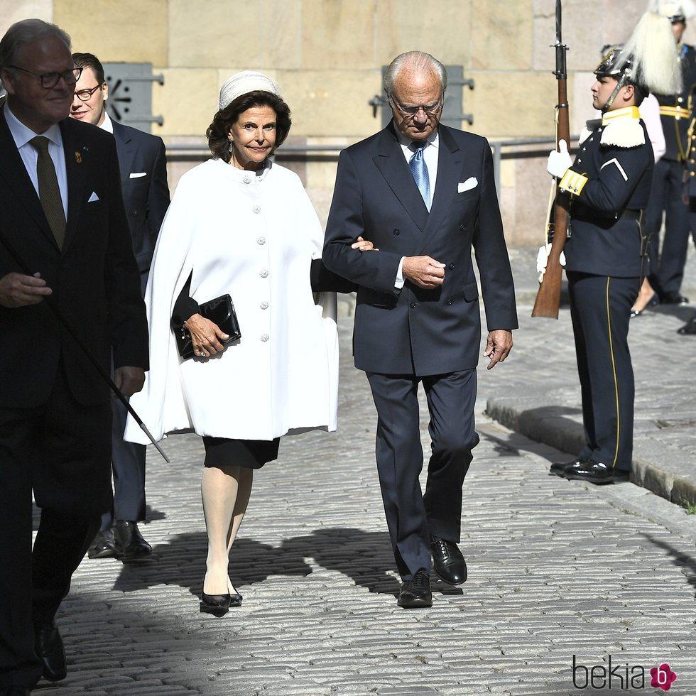 Carlos Gustavo y Silvia de Suecia en la apertura del Parlamento 2019