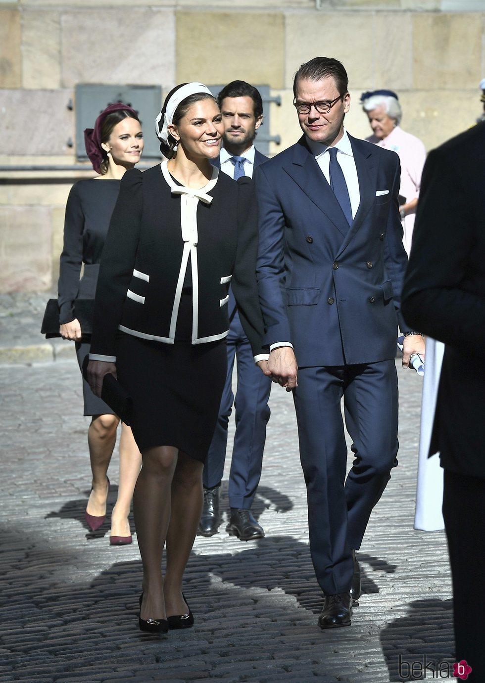 Victoria y Daniel de Suecia en la apertura del Parlamento 2019