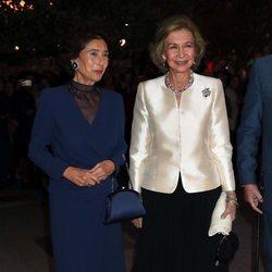Paloma O'Shea y la Reina Sofía en el concierto por su 80 cumpleaños