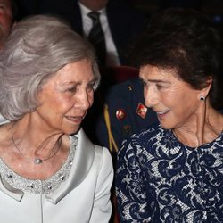 La Reina Sofía y Paloma O'Shea en un acto de la Escuela Superior de Música Reina Sofía