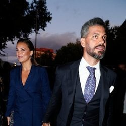 René Ramos y Lorena Gómez en la presentación del documental 'El corazón de Sergio Ramos'