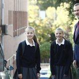 La Princesa Leonor y la Infanta Sofía con los Reyes Felipe y Letizia en la vuelta al cole 2019/2020