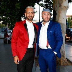 Manuel Cortés y Kiko Rivera en la presentación del documental 'El corazón de Sergio Ramos'