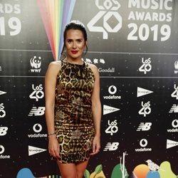 Anna Allen en la cena de los nominados de Los 40 Music Awards