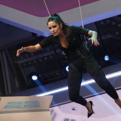 Cristina Pedroche imitando 'Misión Imposible' en 'El Hormiguero'