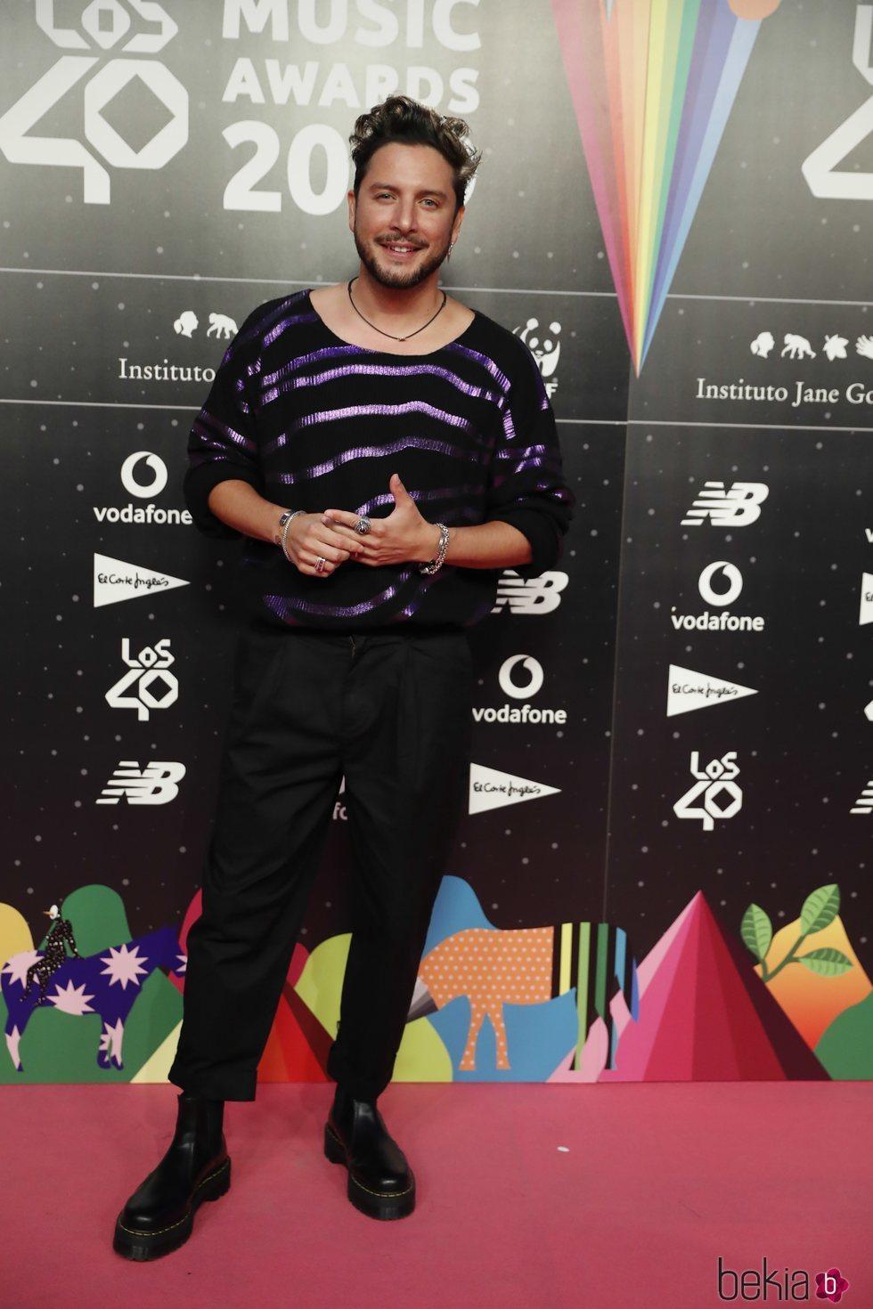 Manuel Carrasco en la cena de nominados de Los 40 Music Awards 2019