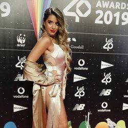 Lola Índigo en la cena de los nominados de Los 40 Music Awards 2019