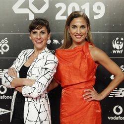 Toni Acosta y Malena Alterio en la cena de los nominados de Los 40 Music Awards 2019