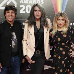 Mario Vaquerizo, Cristina Boscá y El Gallo en la cena de los nominados de Los 40 Music Awards 2019