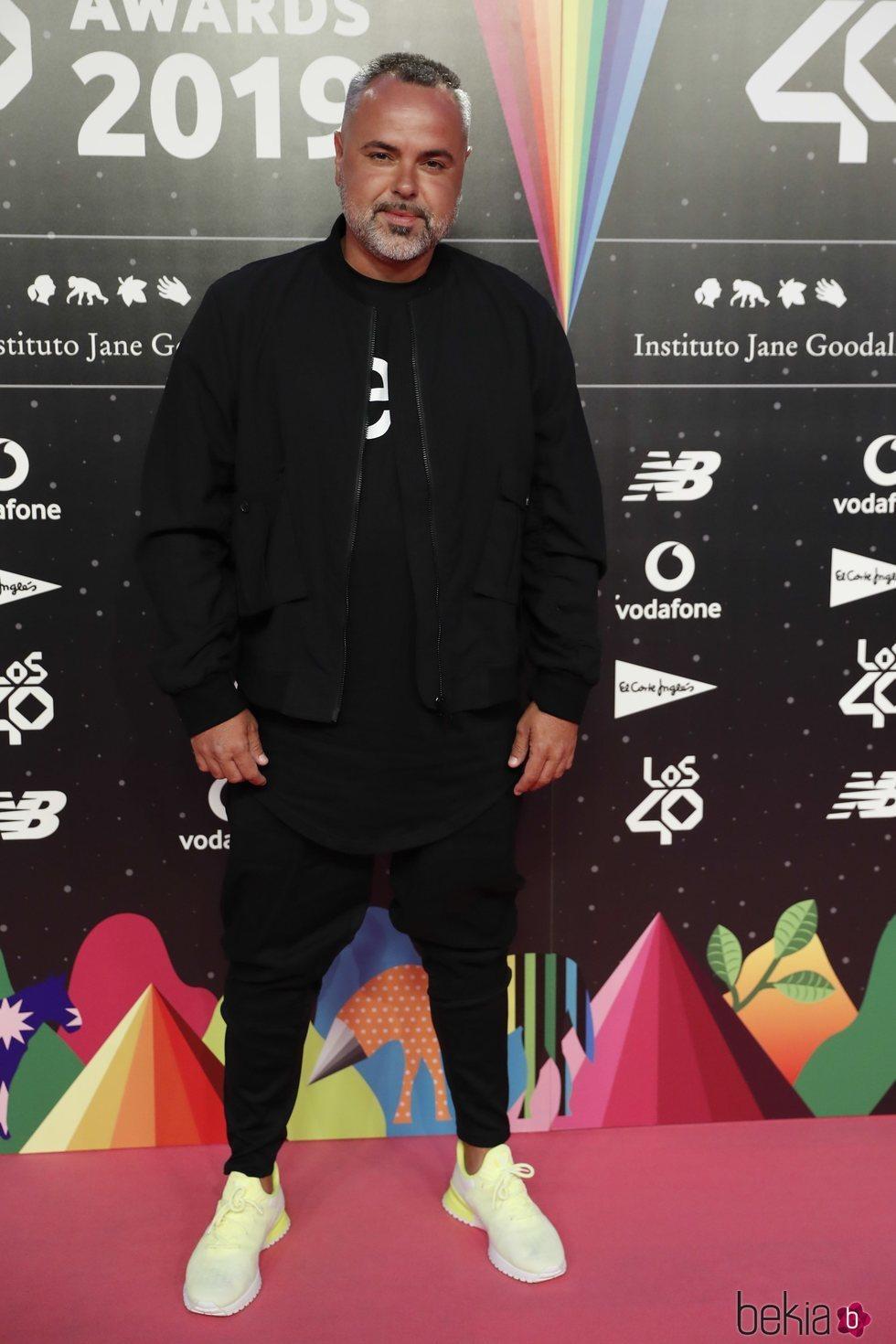 Juan Magán en la cena de los nominados de Los 40 Music Awards 2019
