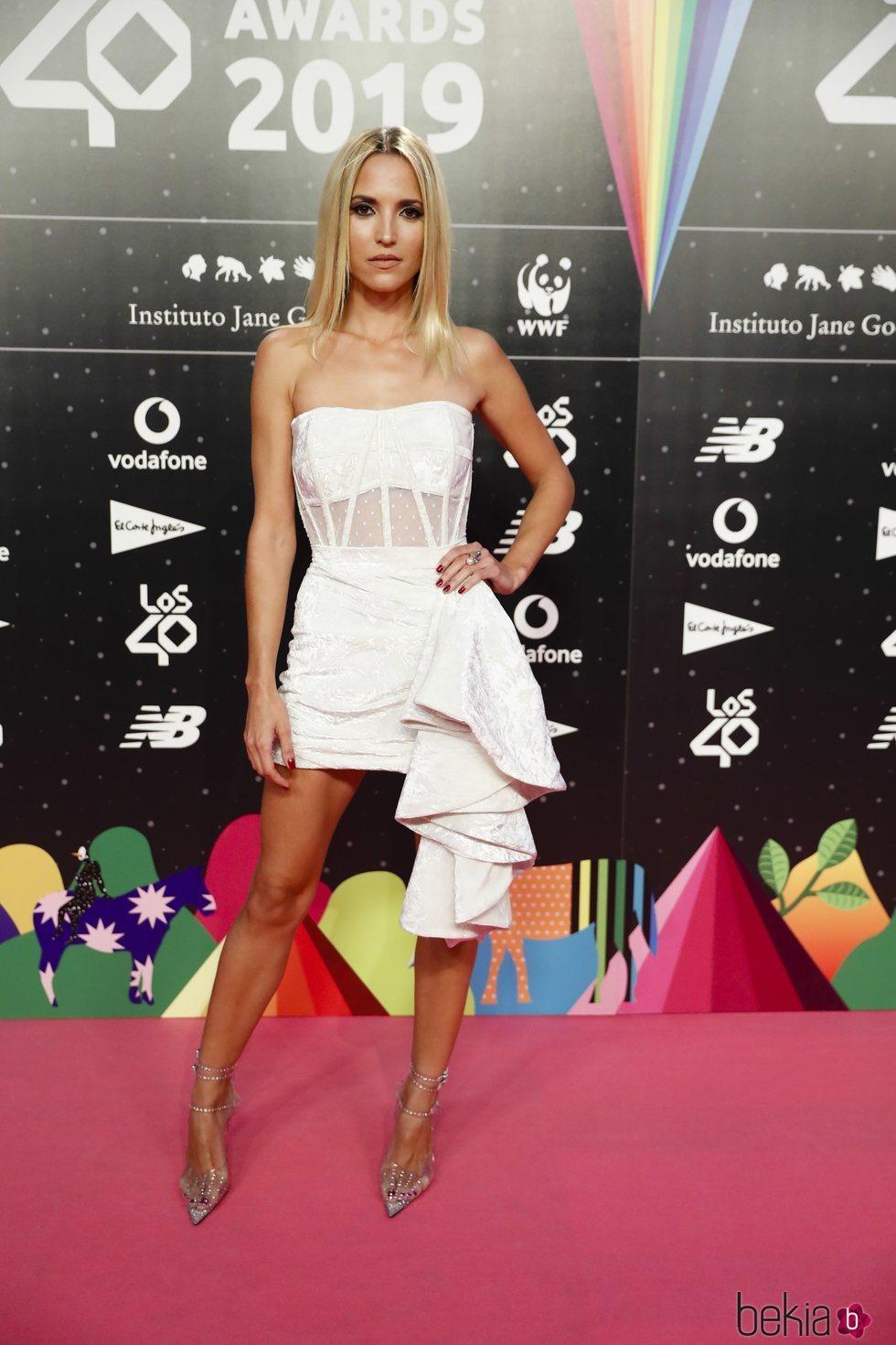 Ana Fernández en la cena de los nominados de Los 40 Music Awards 2019