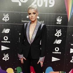 Alba Reche en la cena de los nominados de Los 40 Music Awards 2019