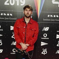 Dani Fernández en la cena de los nominados de Los 40 Music Awards 2019