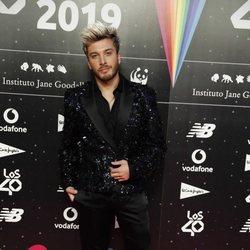 Blas Cantó en la cena de los nominados de Los 40 Music Awards 2019