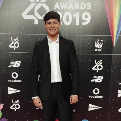 Alfred García en la cena de los nominados de Los 40 Music Awards 2019