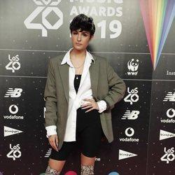 Natalia Lacunza en la cena de los nominados de Los 40 Music Awards 2019